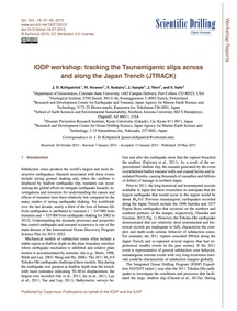 Iodp Workshop: Tracking the Tsunamigenic... by Kirkpatrick, J. D.