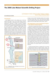 The 2005 Lake Malawi Scientific Drilling... by Scholz, C. A.