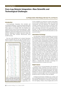 Core–log–seismic Integration – New Scien... by Gaillot, P.
