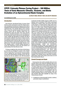 Cpcp: Colorado Plateau Coring Project – ... by Olsen, P. E.