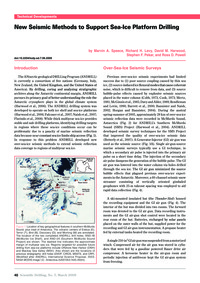 New Seismic Methods to Support Sea-ice P... by Speece, M. A.