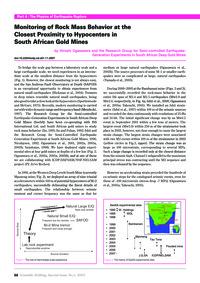 Monitoring of Rock Mass Behavior at the ... by Ogasawara, H.