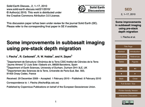 Some Improvements in Subbasalt Imaging U... by Flecha, I.