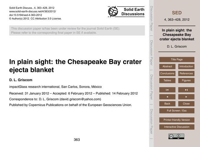 In Plain Sight: the Chesapeake Bay Crate... by Griscom, D. L.