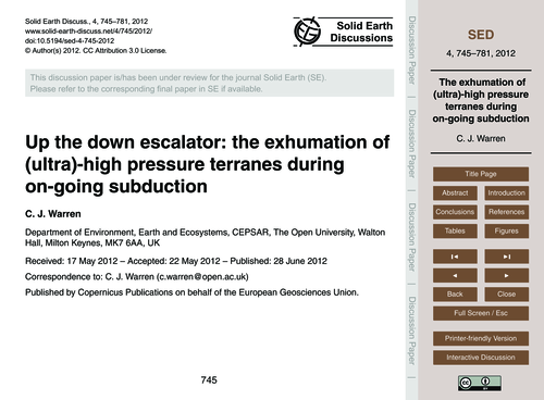 Up the Down Escalator: the Exhumation of... by Warren, C. J.
