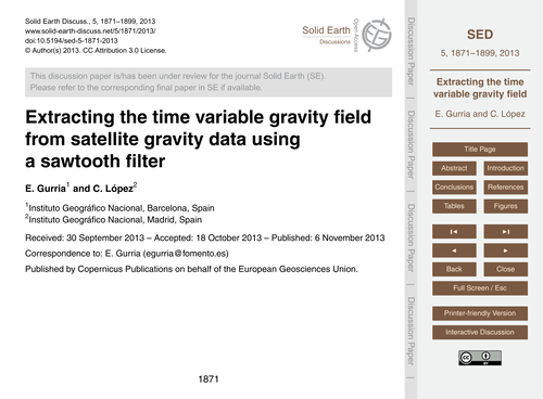 Extracting the Time Variable Gravity Fie... by Gurria, E.