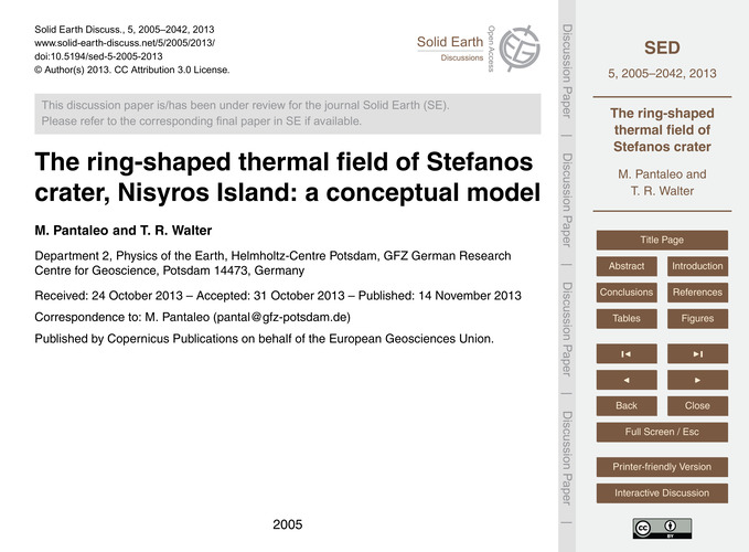 The Ring-shaped Thermal Field of Stefano... by Pantaleo, M.