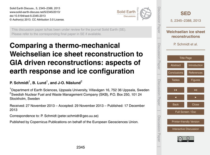 Comparing a Thermo-mechanical Weichselia... by Schmidt, P.
