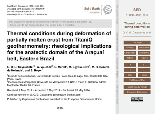 Thermal Conditions During Deformation of... by Cavalcante, G. C. G.