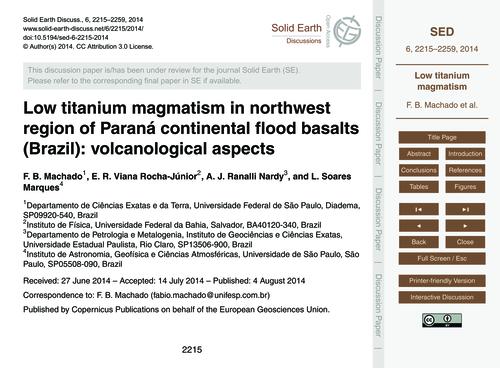 Low Titanium Magmatism in Northwest Regi... by MacHado, F. B.