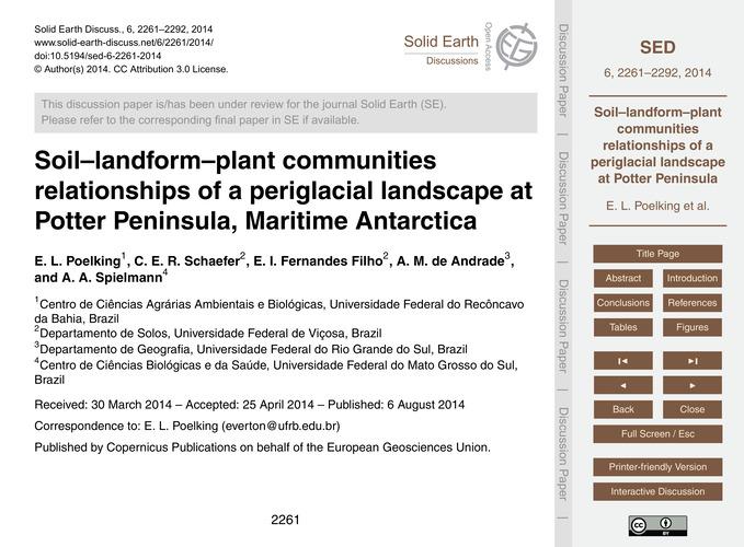 Soil–landform–plant Communities Relation... by Poelking, E. L.