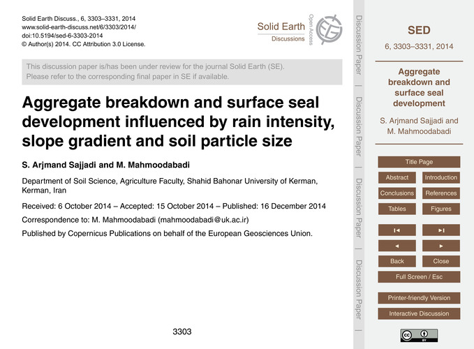 Aggregate Breakdown and Surface Seal Dev... by Arjmand Sajjadi, S.