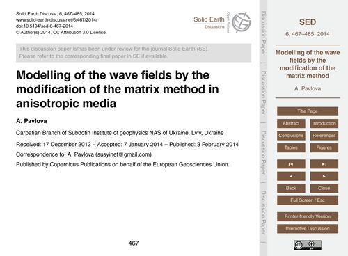 Modelling of the Wave Fields by the  Mod... by Pavlova, A.