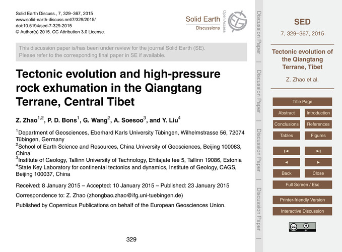 Tectonic Evolution and High-pressure Roc... by Zhao, Z.