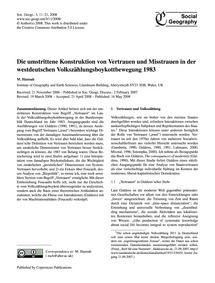 Die Umstrittene Konstruktion Von Vertrau... by Hannah, M.