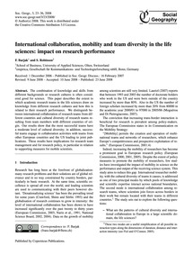 International Collaboration, Mobility an... by Barjak, F.