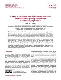 Playing at the Edges: Use of Playground ... by Due, C.