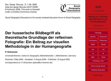 Der Husserlsche Bildbegriff Als Theoreti... by Dirksmeier, P.