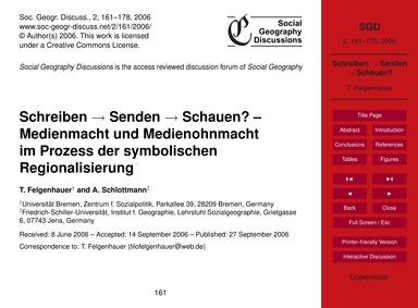 Schreiben → Senden → Schauen? – Medienma... by Felgenhauer, T.