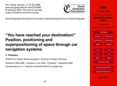 You Have Reached Your Destination! Posit... by Thielmann, T.