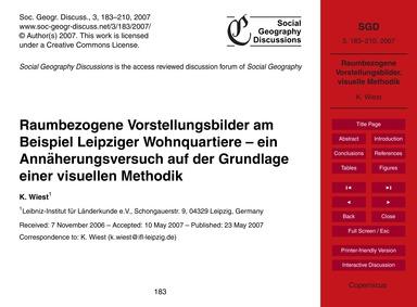 Raumbezogene Vorstellungsbilder Am Beisp... by Wiest, K.