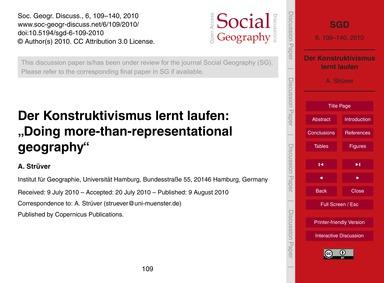 """Der Konstruktivismus Lernt Laufen: """"Doin... by Strüver, A."""