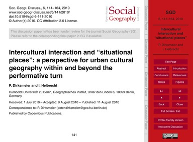 Intercultural Interaction and Situationa... by Dirksmeier, P.