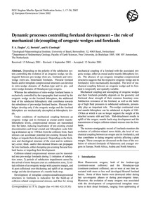 Dynamic Processes Controlling Foreland D... by Ziegler, P. A.