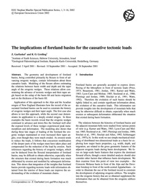 The Implications of Foreland Basins for ... by Garfunkel, Z.