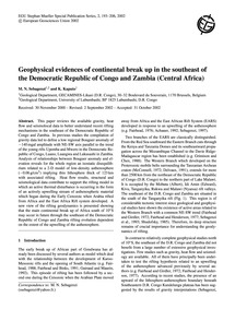 Geophysical Evidences of Continental Bre... by Sebagenzi, M. N.