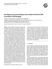 Development of Recent Faulting in the So... by Basson, U.