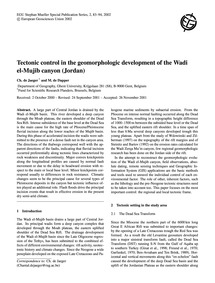 Tectonic Control in the Geomorphologic D... by De Jaeger, Ch.