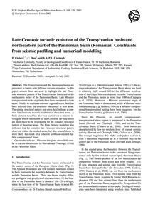 Late Cenozoic Tectonic Evolution of the ... by Ciulavu, D.