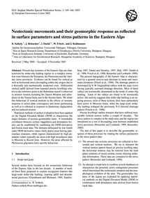 Neotectonic Movements and Their Geomorph... by Székely, B.