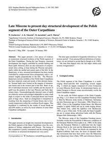 Late Miocene to Present Day Structural D... by Zuchiewicz, W.