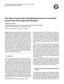The Effects of Neotectonic and Hydrologi... by Timár, G.