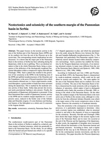Neotectonics and Seismicity of the South... by Marović, M.