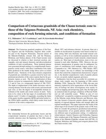 Comparison of Cretaceous Granitoids of t... by Tikhomirov, P. L.