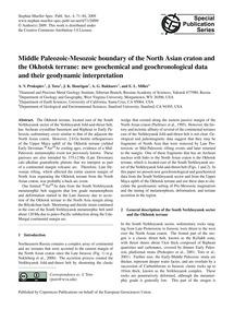 Middle Paleozoic-mesozoic Boundary of th... by Prokopiev, A. V.
