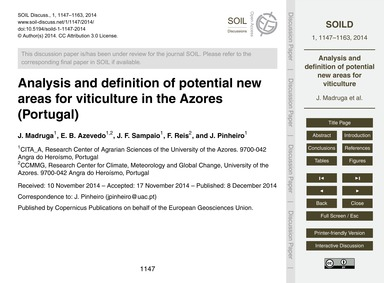 Analysis and Definition of Potential New... by Madruga, J.
