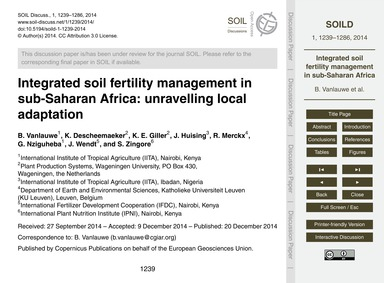 Integrated Soil Fertility Management in ... by Vanlauwe, B.