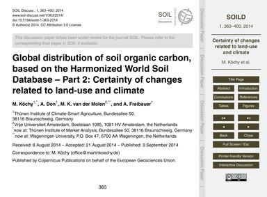 Global Distribution of Soil Organic Carb... by Köchy, M.