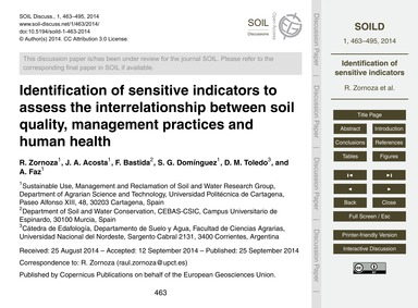 Identification of Sensitive Indicators t... by Zornoza, R.