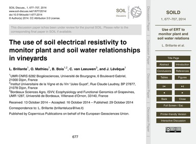 The Use of Soil Electrical Resistivity t... by Brillante, L.