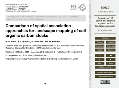 Comparison of Spatial Association Approa... by Miller, B. A.