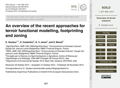 An Overview of the Recent Approaches for... by Vaudour, E.