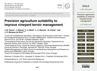 Precision Agriculture Suitability to Imp... by Terrón, J. M.
