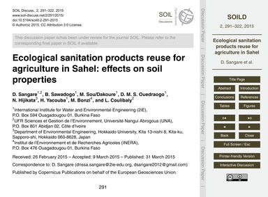 Ecological Sanitation Products Reuse for... by Sangare, D.