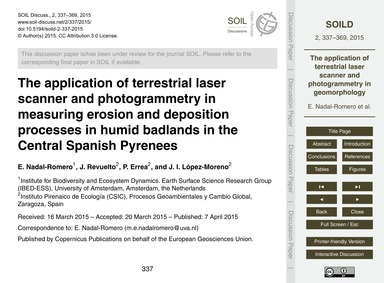 The Application of Terrestrial Laser Sca... by Nadal-romero, E.