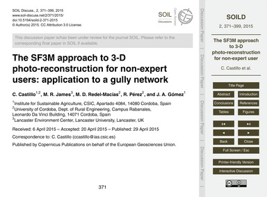 The Sf3M Approach to 3-d Photo-reconstru... by Castillo, C.